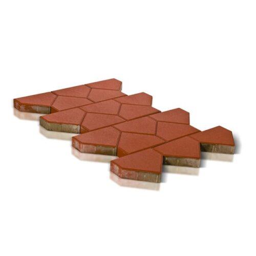 Тротуарная плитка Тиара, красный