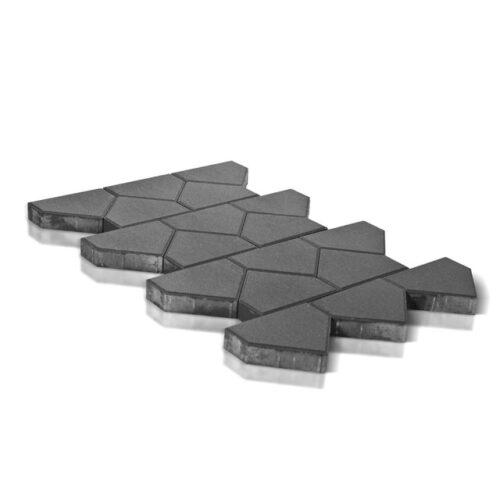 Тротуарная плитка Тиара, серый